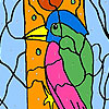 Woodpecker in the forest coloring game